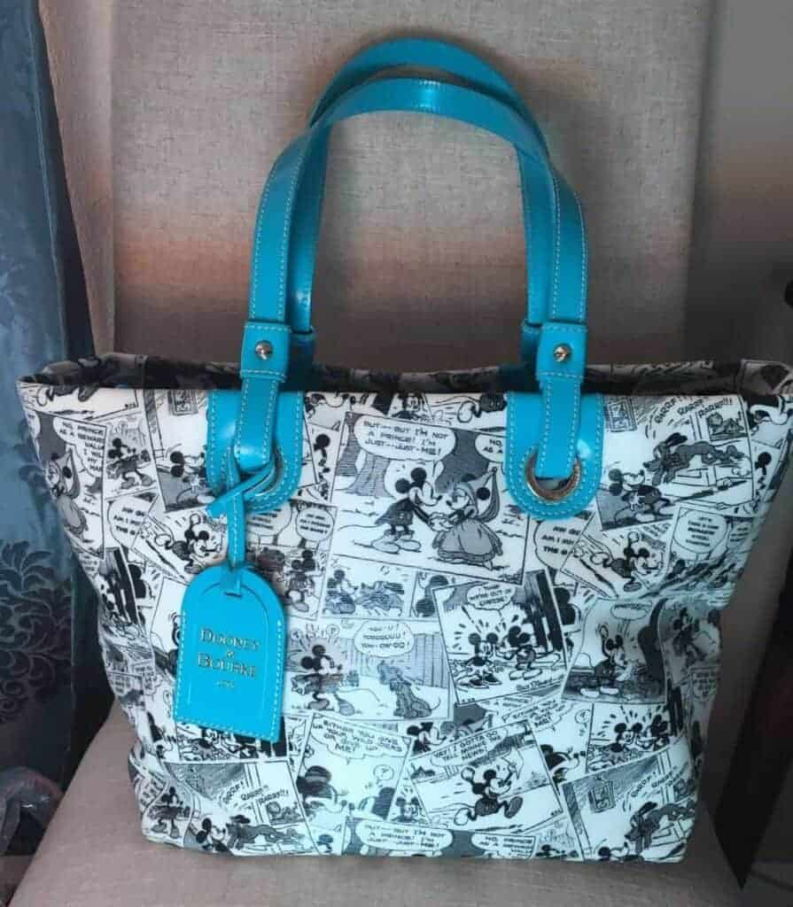 Comics Tote with Teal Handles OOAK