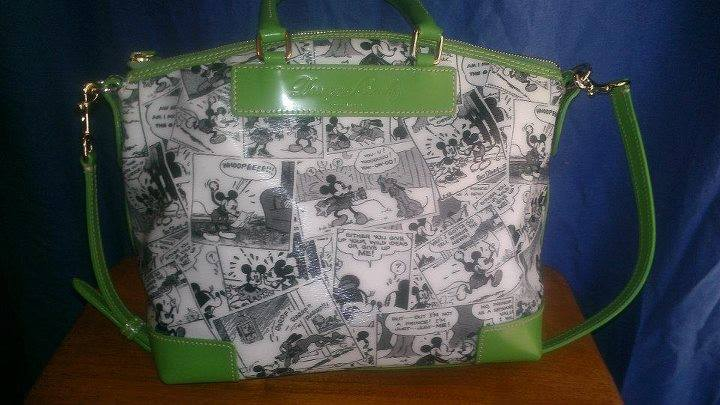 Comics Satchel with Green Trim OOAK