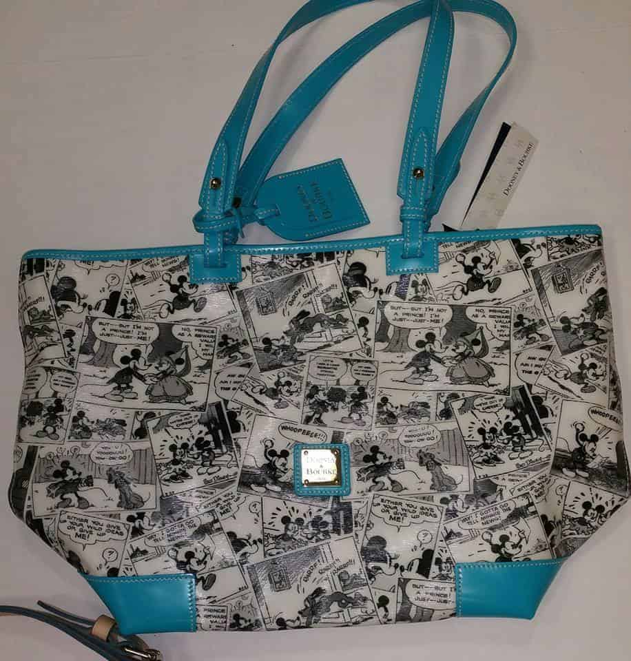 Comics Shopper Tote with Teal Trim OOAK