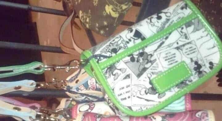 Comics Snap Wristlet with Green Trim (back) OOAK