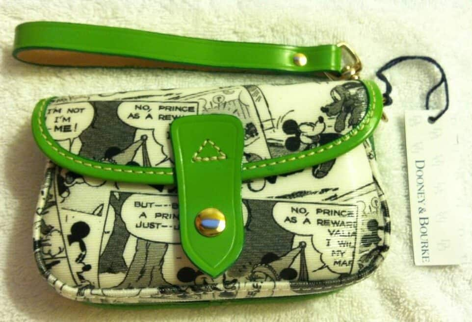 Comics Snap Wristlet with Green Trim OOAK