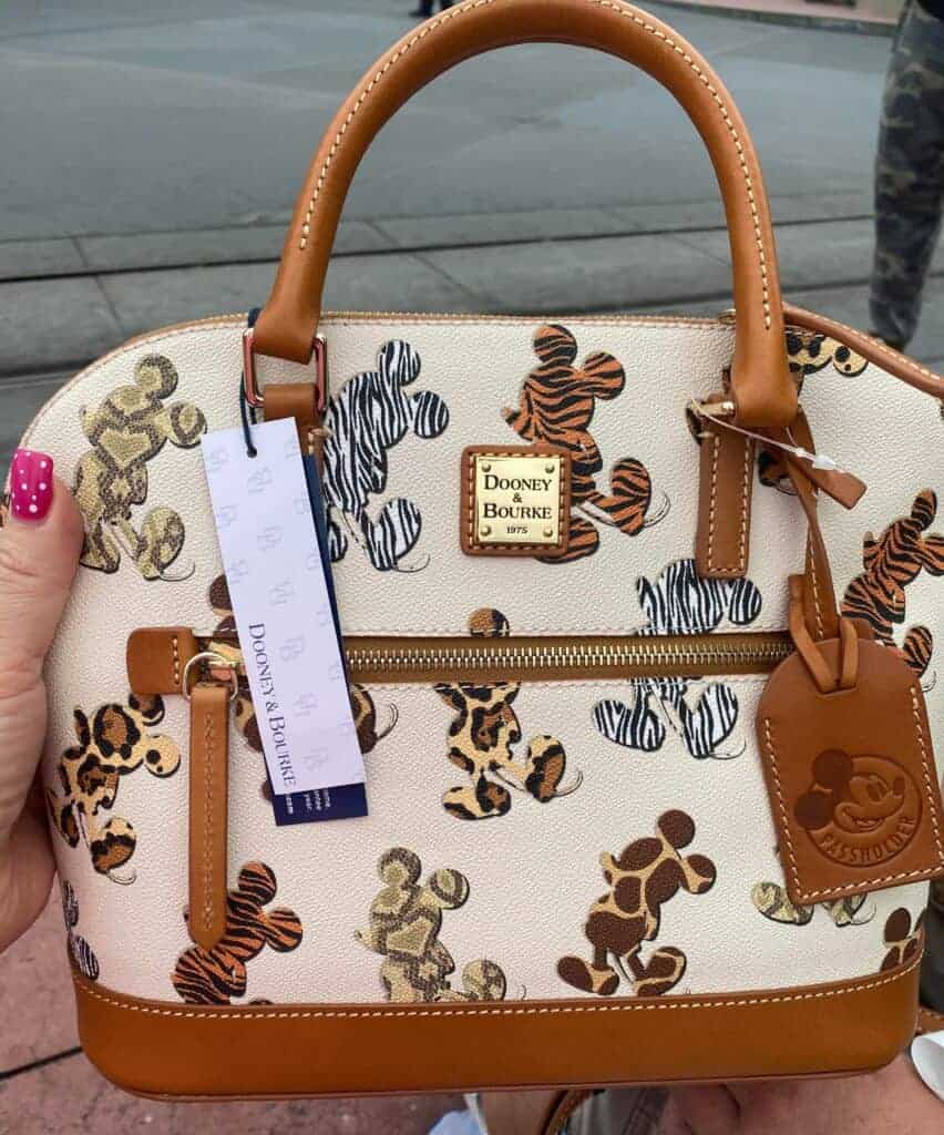 Mickey Animal Print Dooney Bourke Passholder Satchel