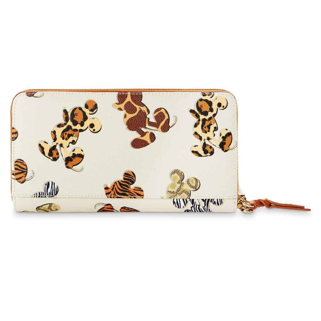 Mickey Mouse Animal Print Wallet (back) by Dooney & Bourke