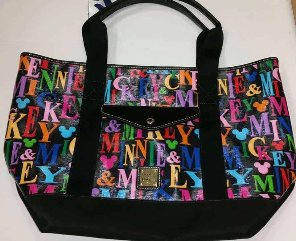 Mickey & Minnie Rainbow Names Tote OOAK