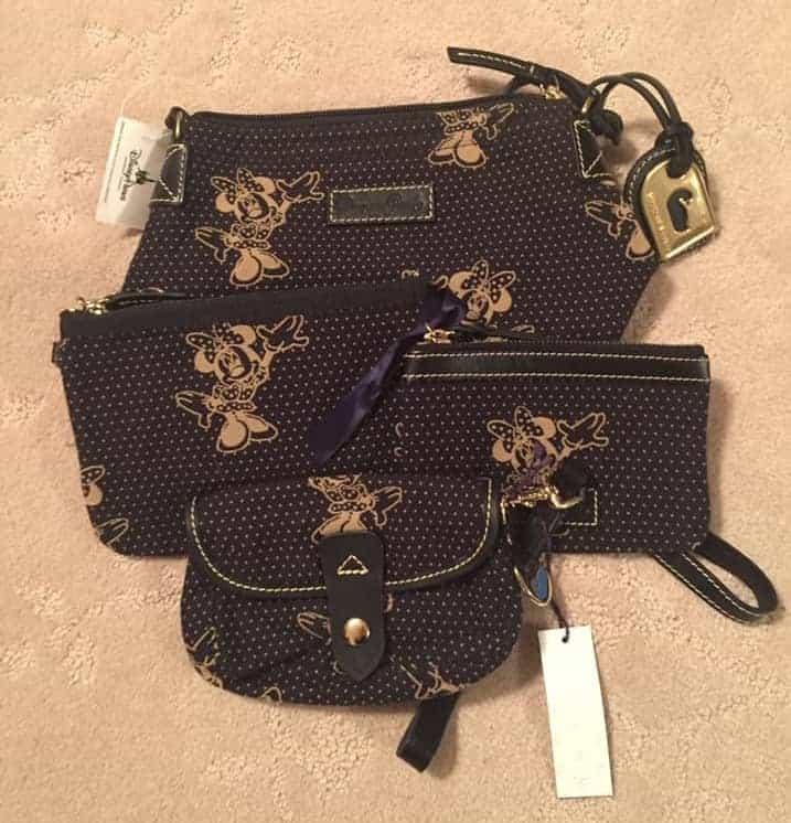 Minnie Reverse Black Canvas Bags OOAK