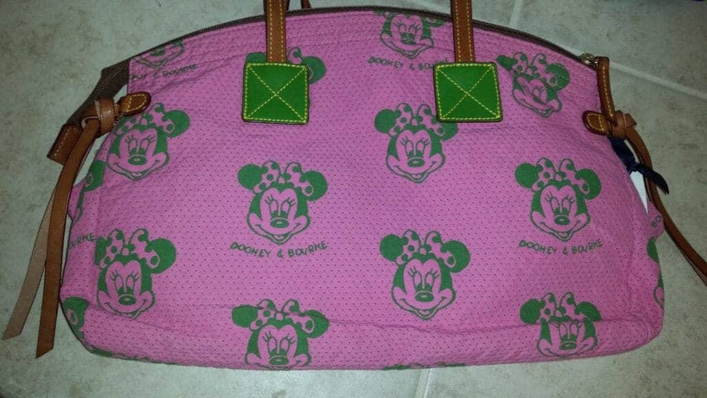 Minnie Faces Pink Domed Satchel with Dooney and Bourke print OOAK