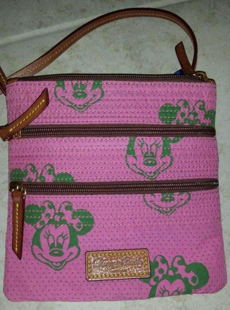 Minnie Faces Pink Triple Zip OOAK