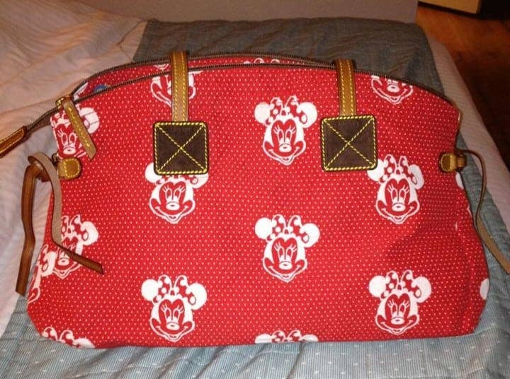 Minnie Faces Red Domed Satchel OOAK