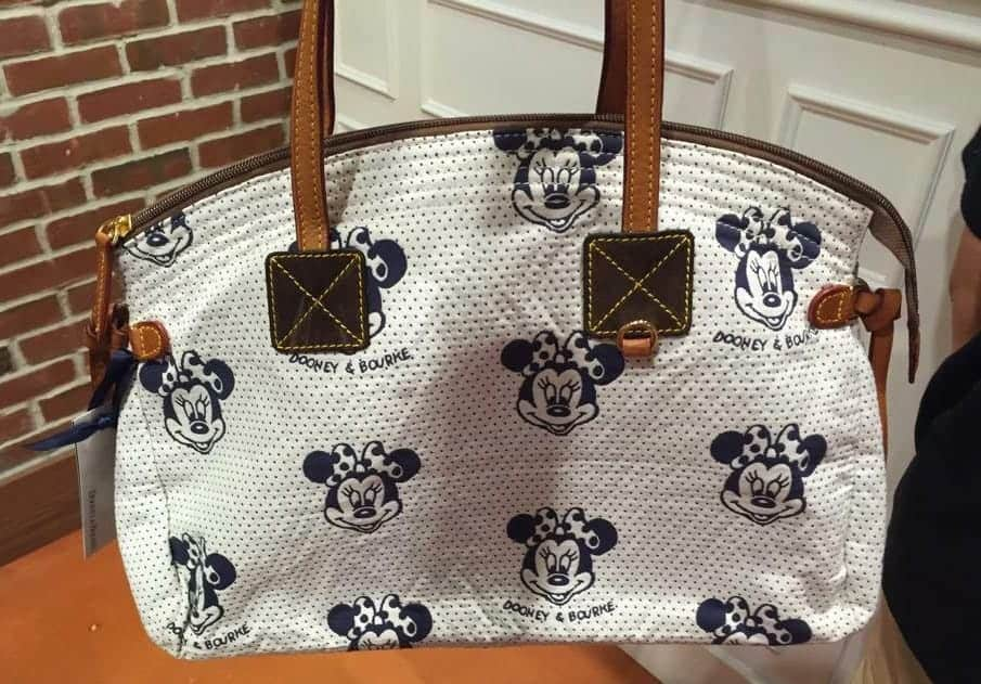 Minnie Faces Cream Domed Satchel with Dooney and Bourke print OOAK