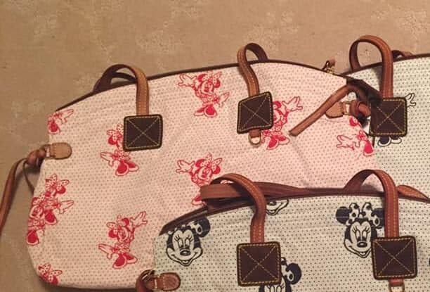 Minnie Mouse Canvas Pink Domed Satchel OOAK