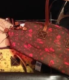 Tinker Bell Brown with Red Tinker Bells Domed Satchel OOAK