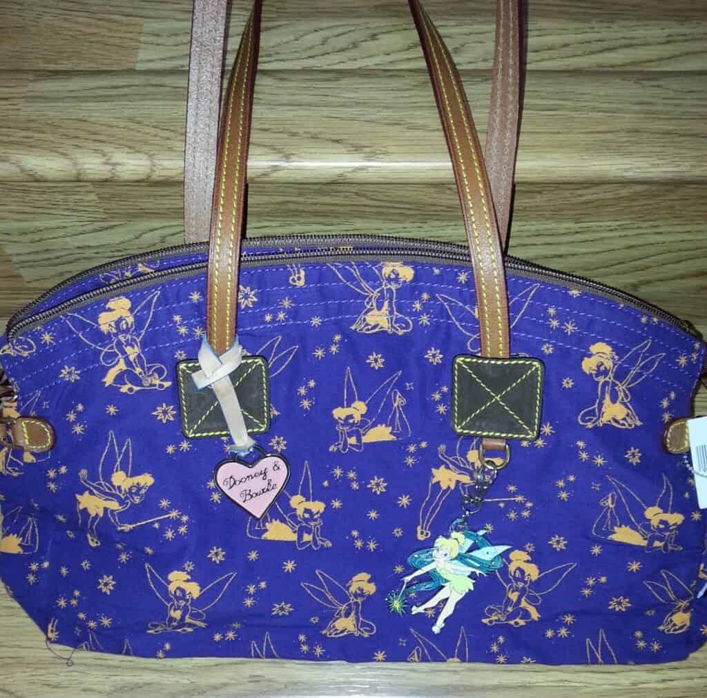Tinker Bell Canvas Purple Domed Satchel OOAK