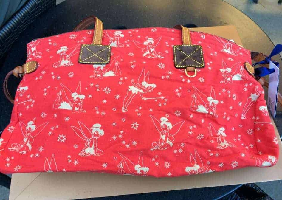 Tinker Bell Canvas Red Domed Satchel OOAK