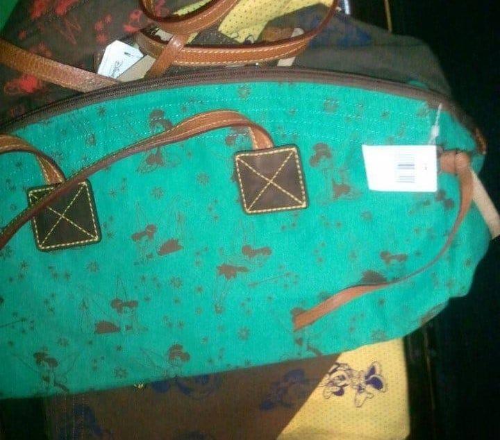 Tinker Bell Green with Brown Tinker Bells Domed Satchel OOAK