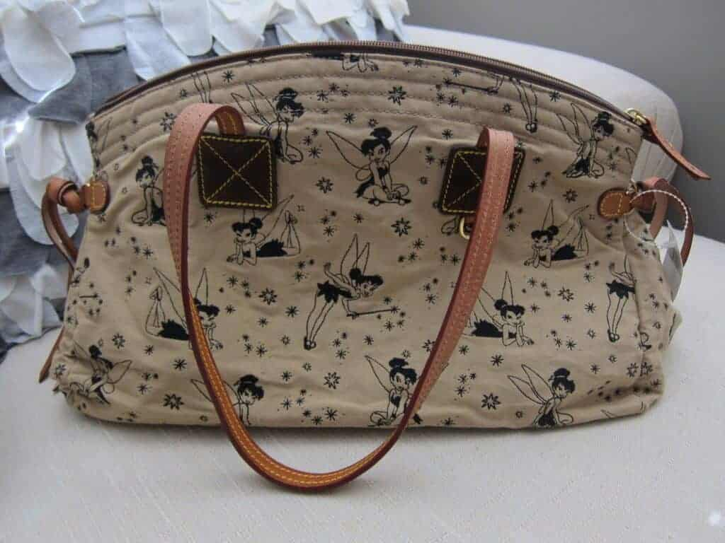 Tinker Bell Tan with Brown Tinker Bells Domed Satchel OOAK