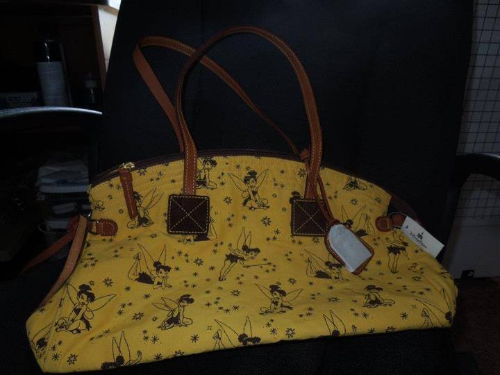Tinker Bell Yellow with Brown Tinker Bells Domed Satchel OOAK