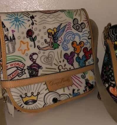 White Sketch Messenger Bag OOAK
