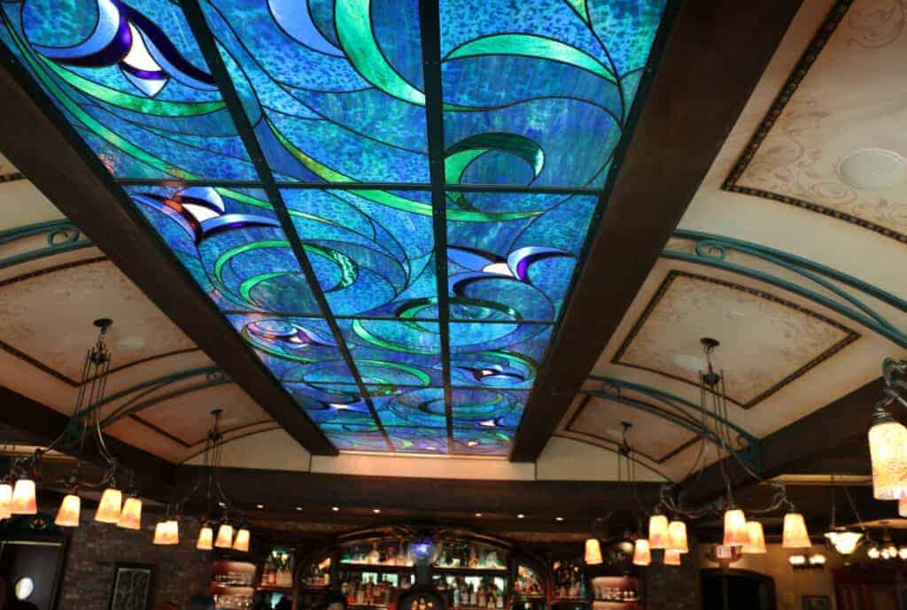 Club 33 Le Salon Nouveau Stained Glass Ceiling