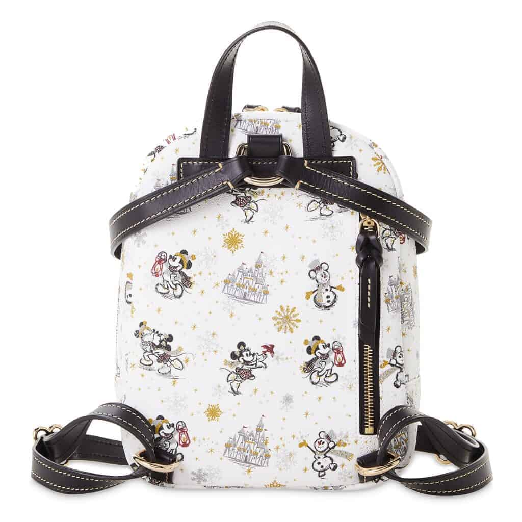 Mickey and Minnie Mouse Holiday 2020 Mini Backpack (back) by Dooney & Bourke