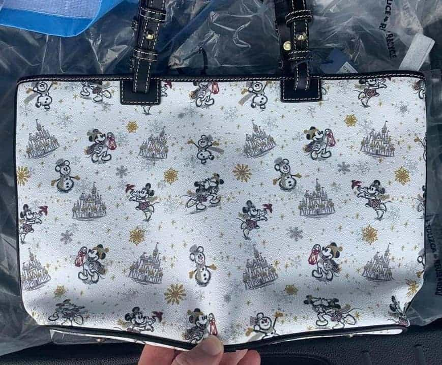 Mickey and Minnie Mouse Holiday 2020 Tote (back)