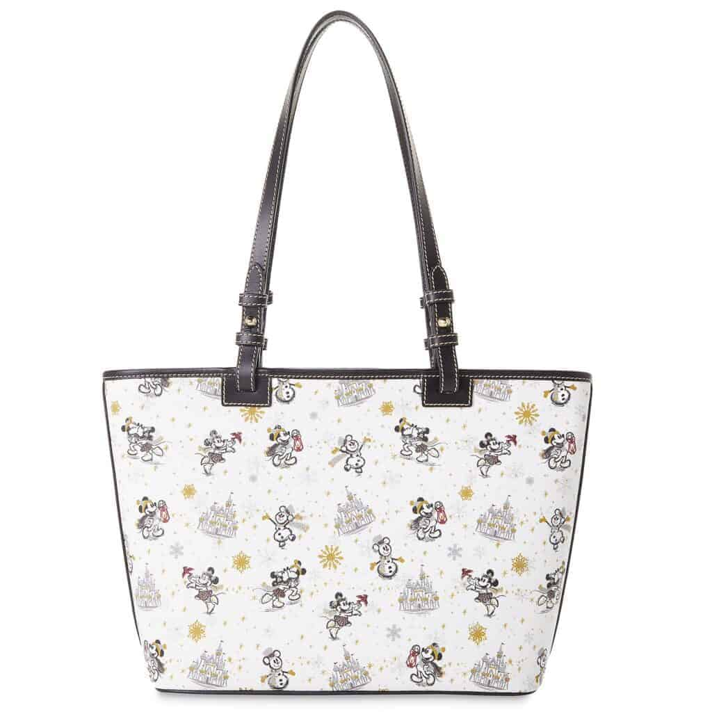 Mickey and Minnie Mouse Holiday 2020 Tote (back) by Dooney & Bourke