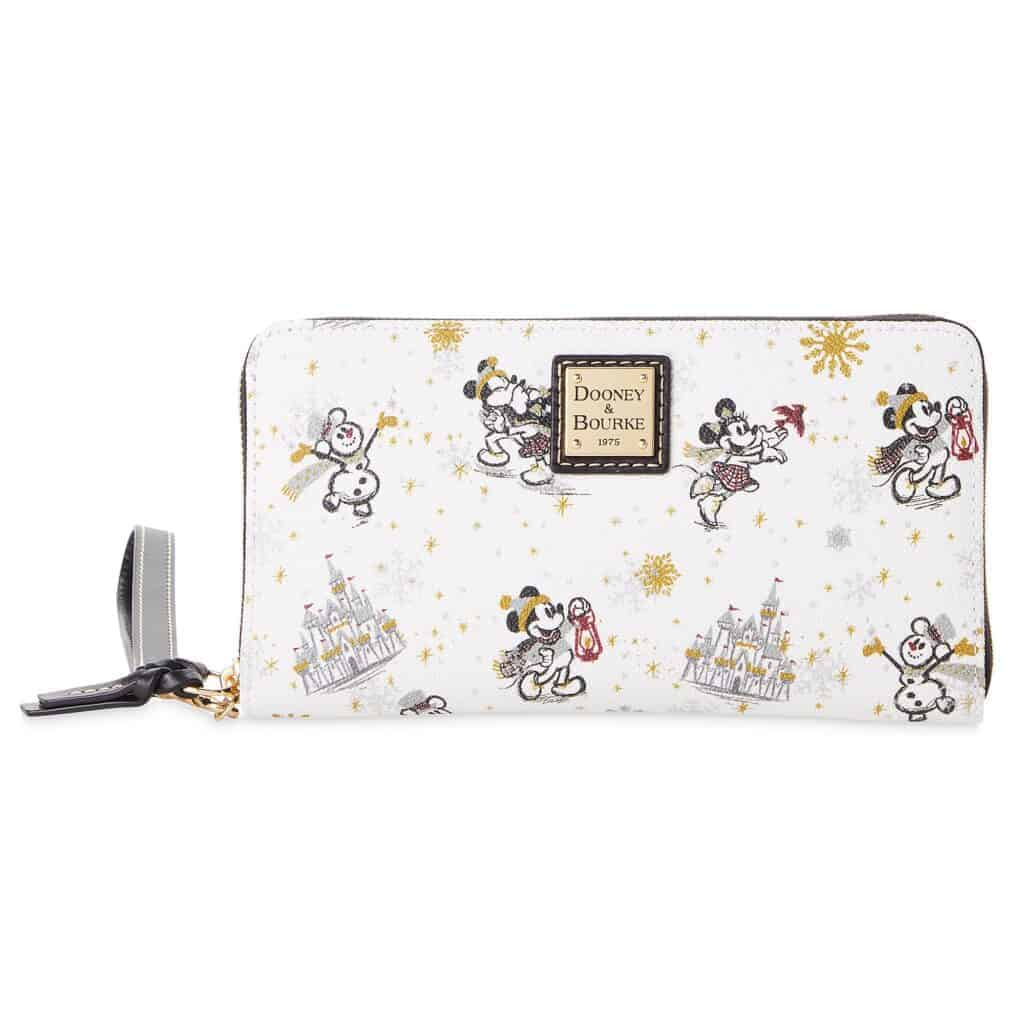 Mickey and Minnie Mouse Holiday 2020 Wristlet Wallet by Dooney & Bourke