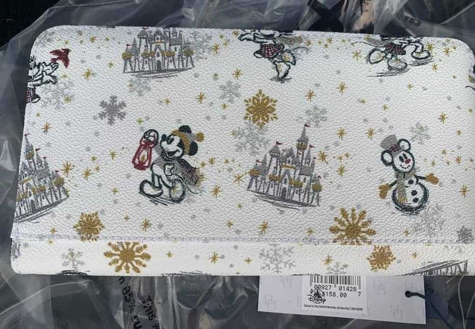 Mickey and Minnie Mouse Holiday 2020 Wristlet Wallet (back)