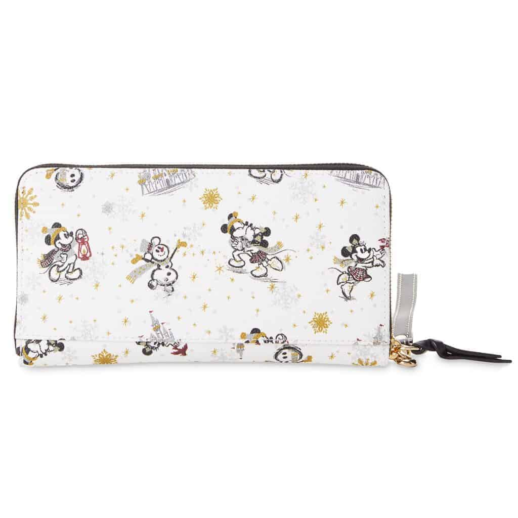 Mickey and Minnie Mouse Holiday 2020 Wristlet Wallet (back) by Dooney & Bourke