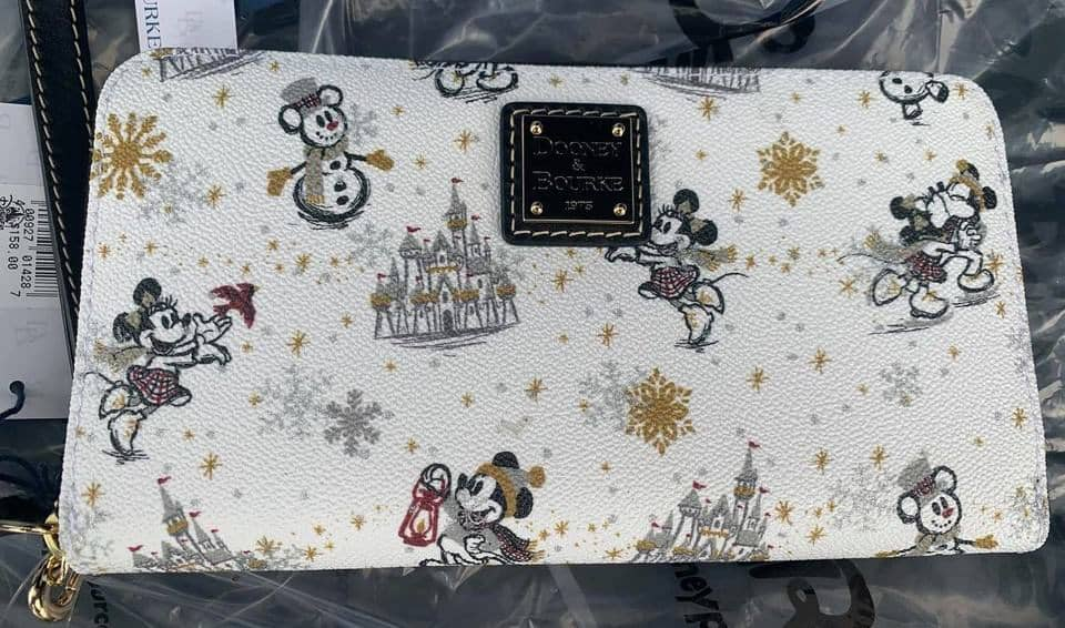 Mickey and Minnie Mouse Holiday 2020 Wristlet Wallet