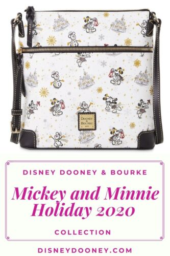 Pin me - Disney Dooney and Bourke Mickey and Minnie Mouse Holiday 2020 Collection