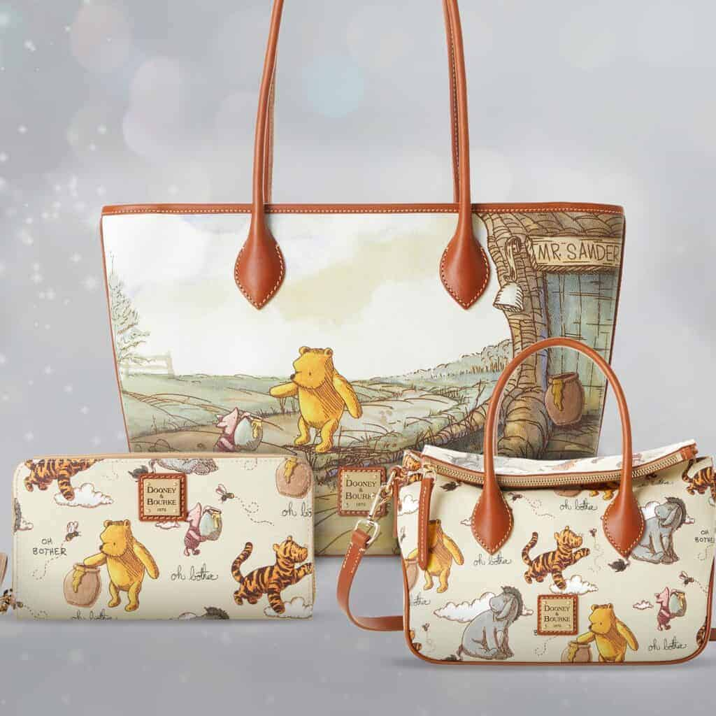 Winnie the Pooh Dooney and Bourke Wallet, Tote, and Small Crossbody
