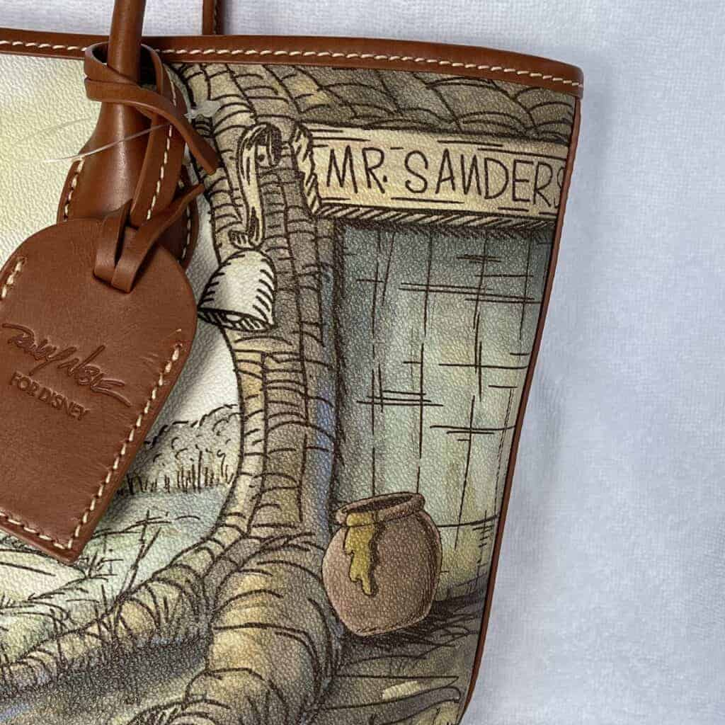 Classic Winnie the Pooh Tote Leather Hangtag