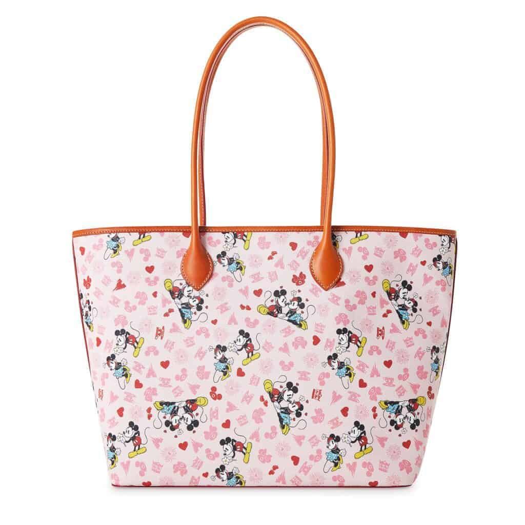 Mickey and Minnie Love Tote (back) by Dooney and Bourke
