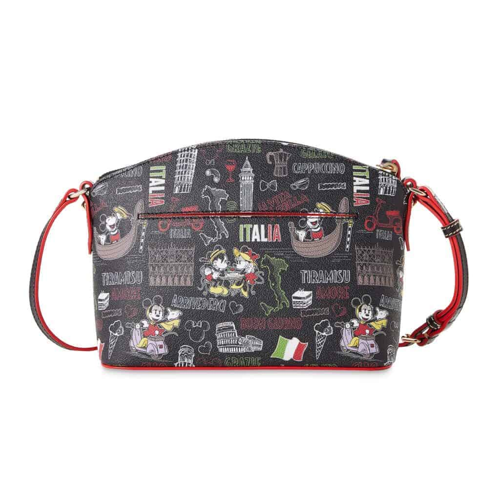 Mickey and Minnie Mouse Italia Crossbody Bag (back) by Dooney & Bourke