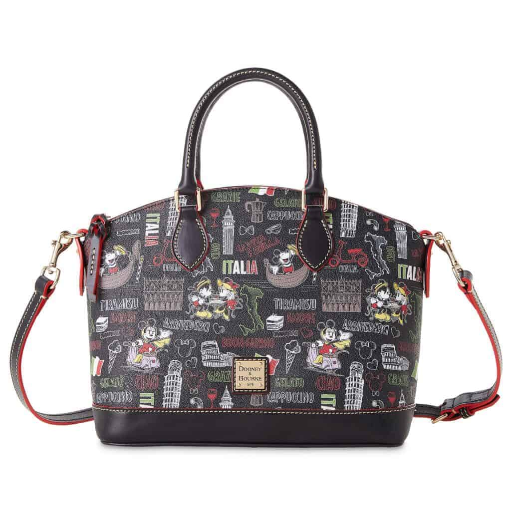 Mickey and Minnie Mouse Italia Satchel by Dooney and Bourke