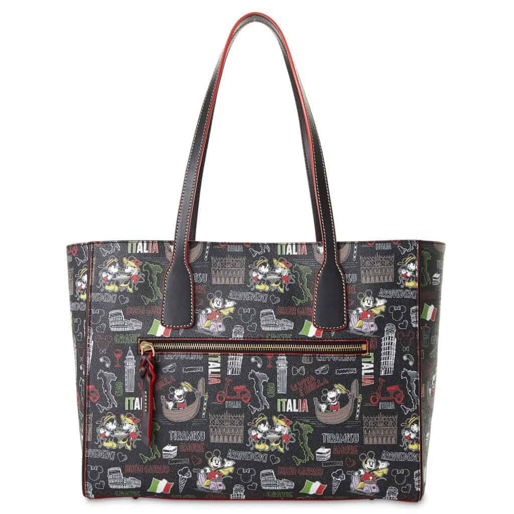 Mickey and Minnie Mouse Italia Tote (back) by Dooney & Bourke