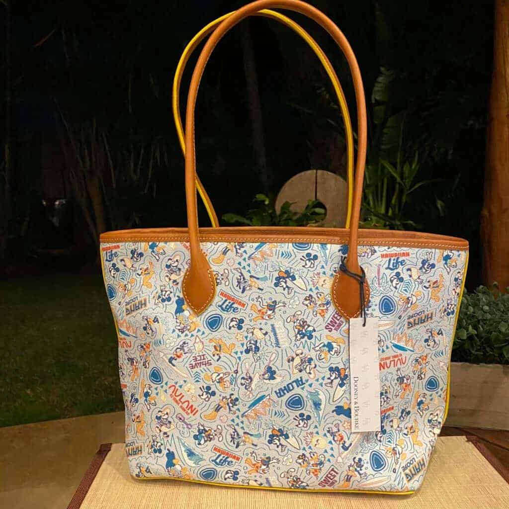 Aulani Character Experience 2021 Tote (back) by Dooney & Bourke