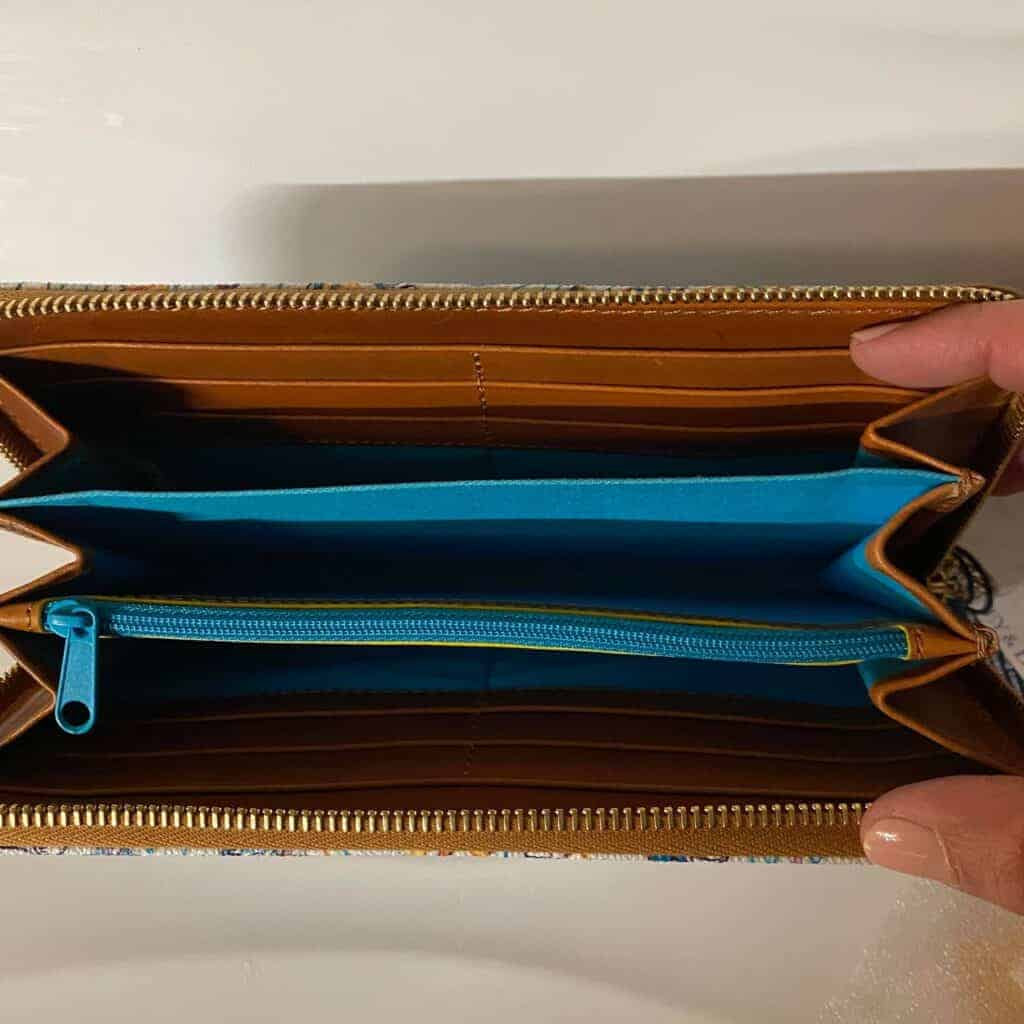 Aulani Character Experience 2021 Wallet (open) by Dooney & Bourke