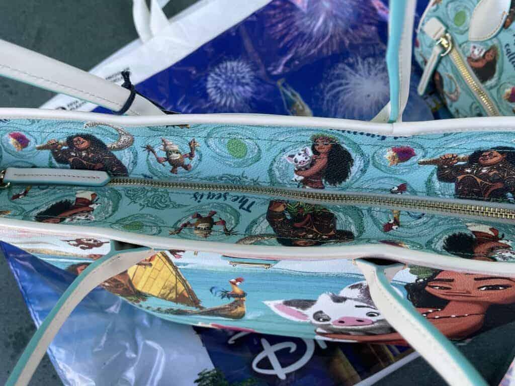Disney Dooney & Bourke Moana Tote (top zipper)