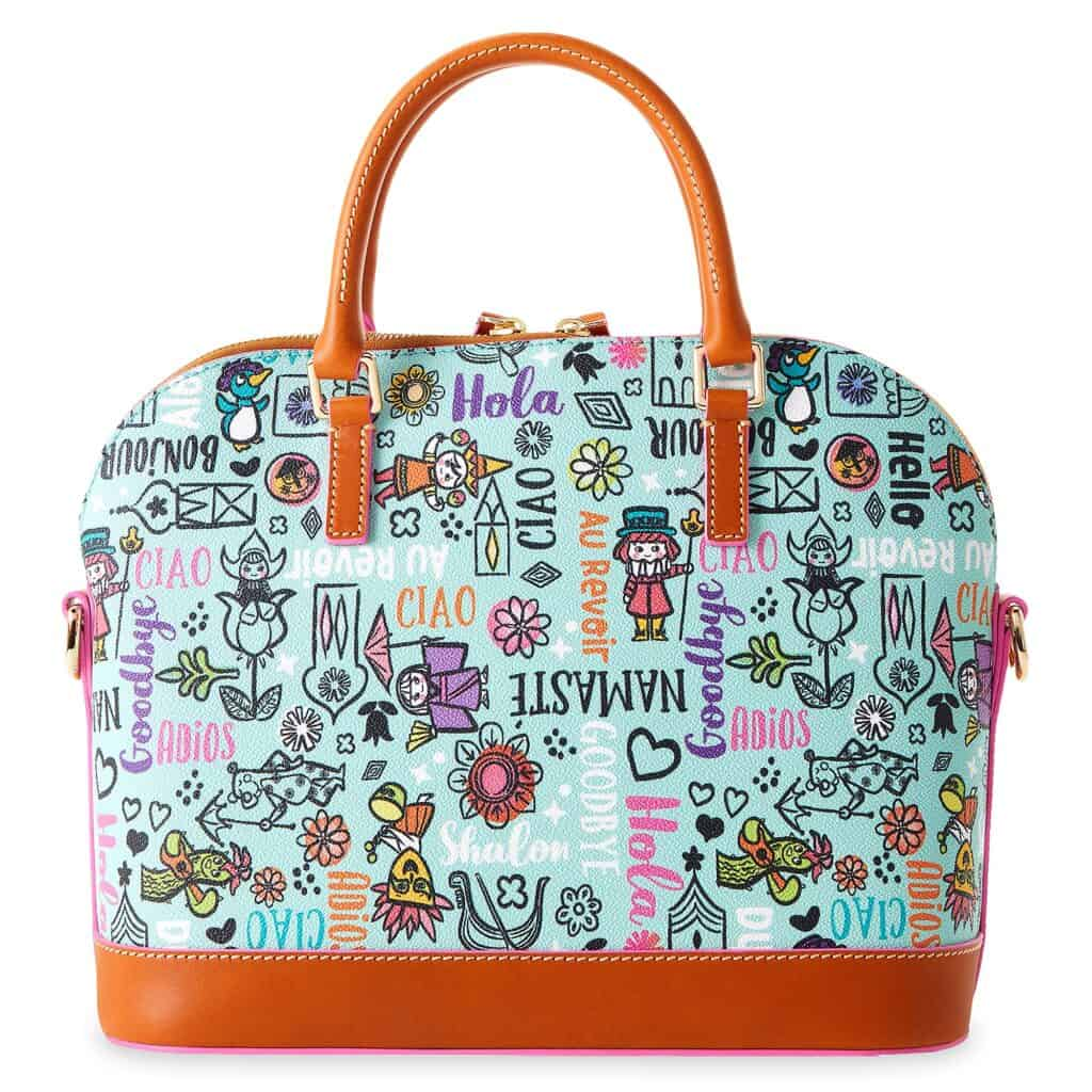 It's a Small World 2021 Satchel (back) by Disney Dooney and Bourke