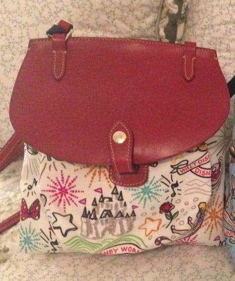 OOAK White Sketch v2 Saddle Bag with Burgundy Flap