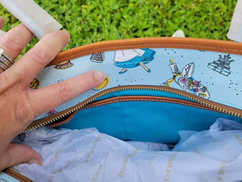 Food and Wine Festival 2021 Be Our Guest Tote (interior) by Disney Dooney and Bourke