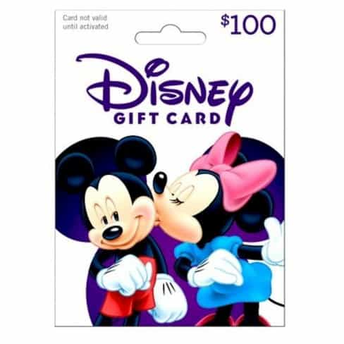 100 Disney Gift Card