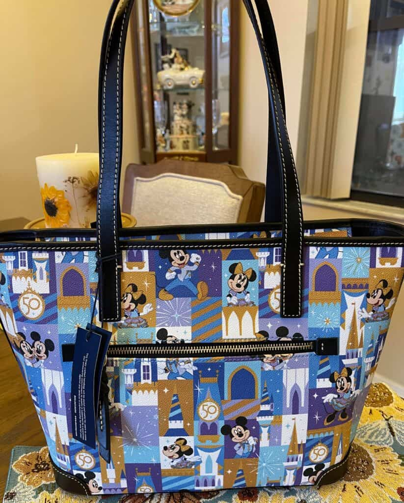 Walt Disney World 50th Anniversary Tote (back) by Dooney and Bourke