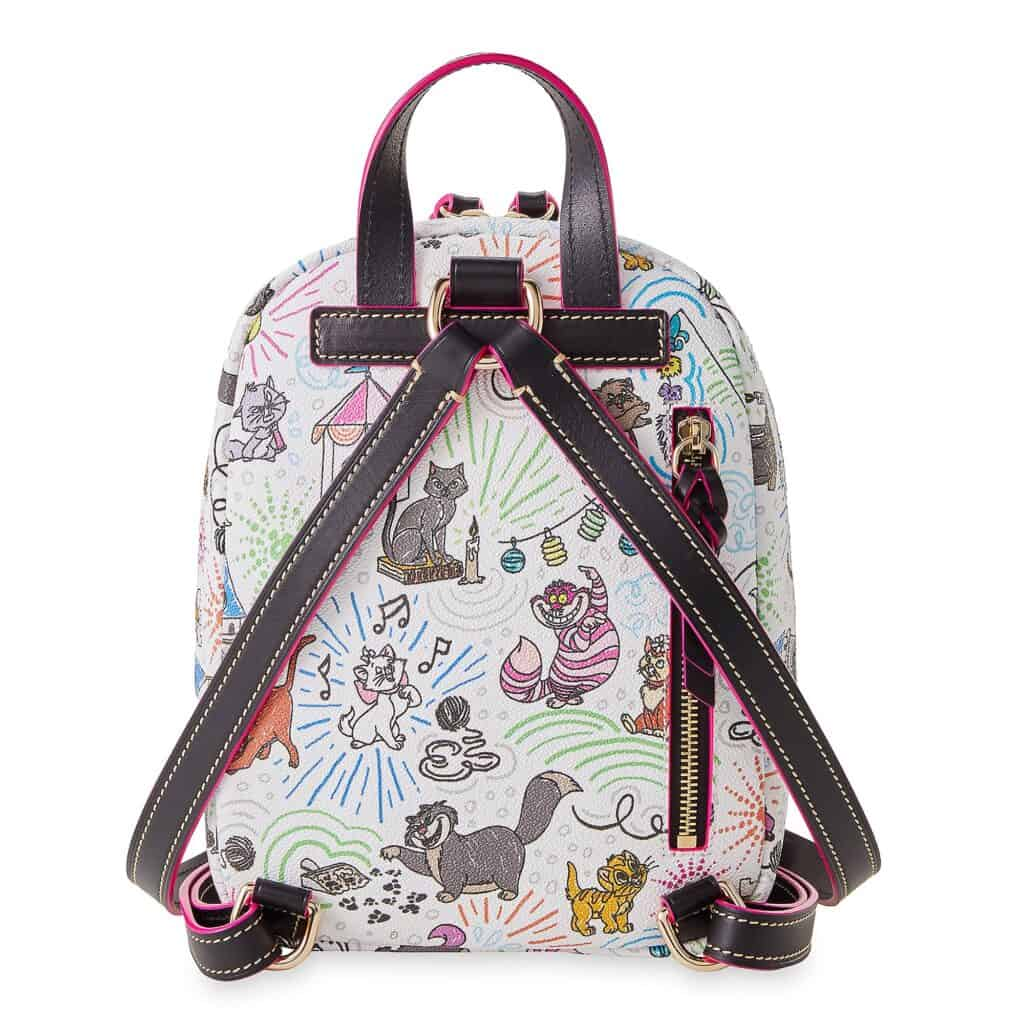Disney Cats Sketch Dooney & Bourke Backpack (back)