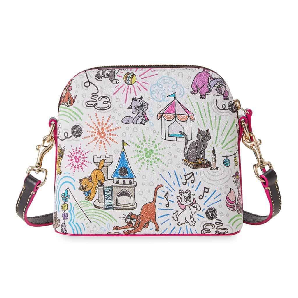 Disney Cats Sketch Crossbody Bag (back) by Dooney & Bourke