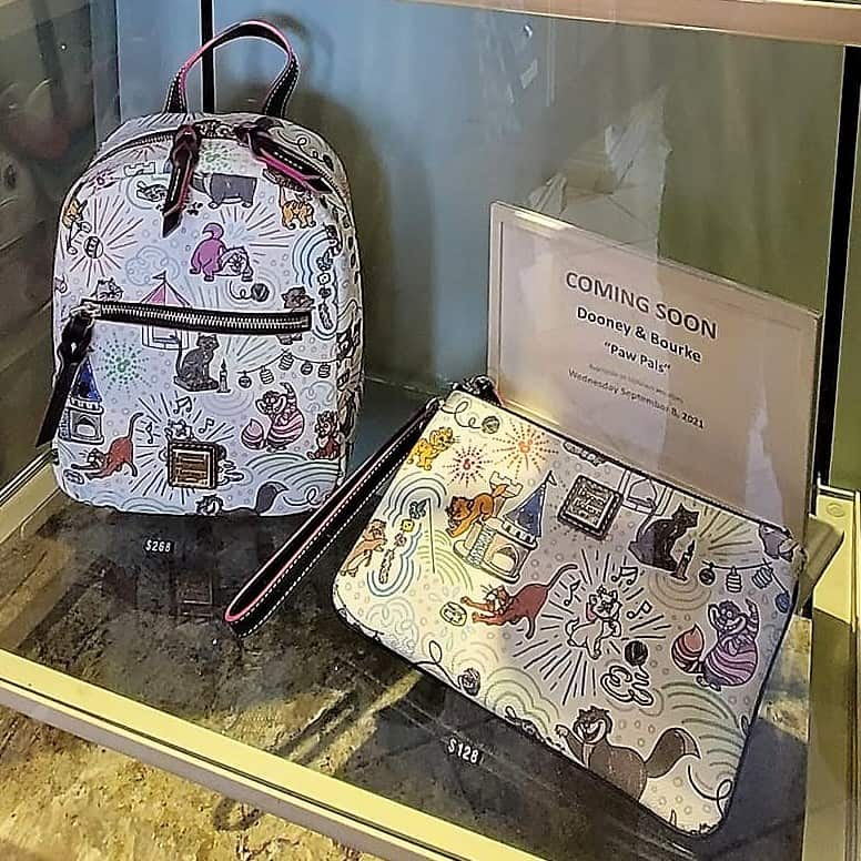 Disney Cats Sketch Preview Backpack and wristlet
