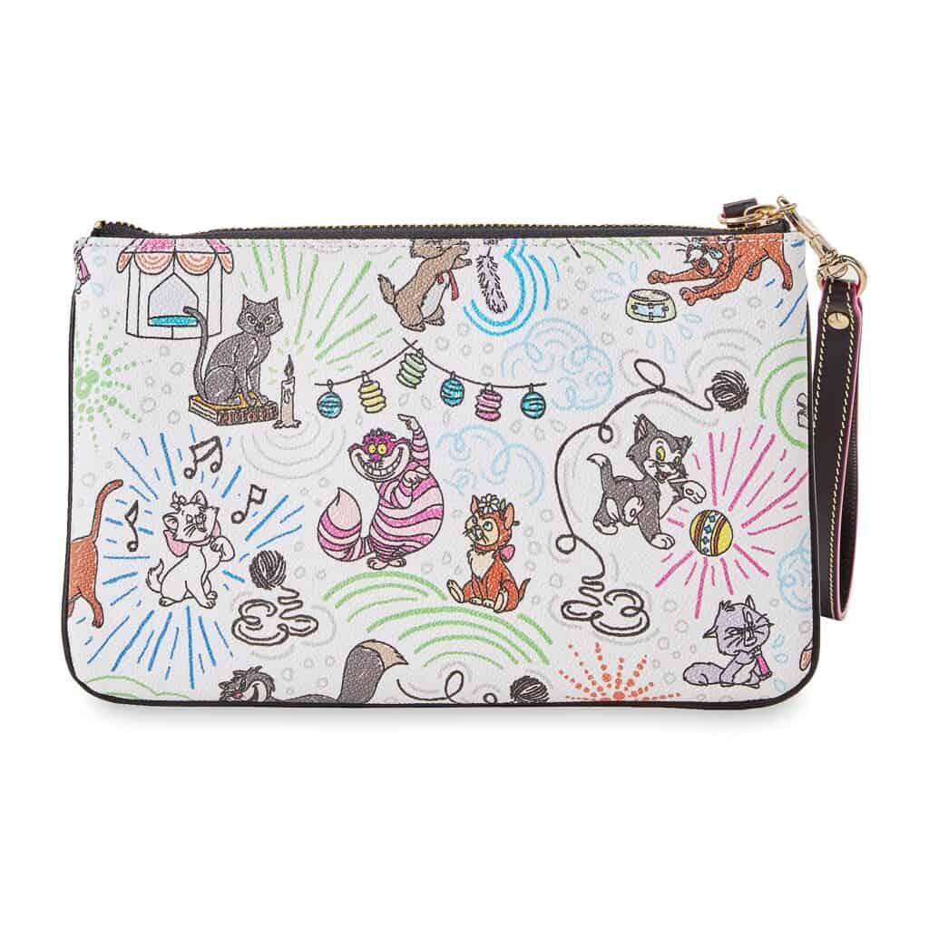 Disney Cats Sketch Wristlet Wallet (back) by Dooney and Bourke