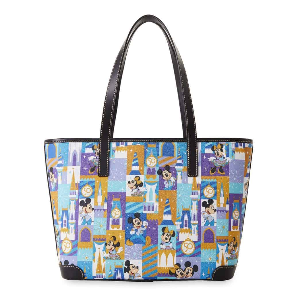 Mickey and Minnie Mouse Dooney and Bourke Tote – Walt Disney World 50th Anniversary (back)